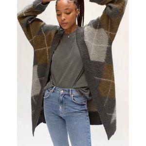 NWT Free People Argyle Avenue Cardigan Sweater